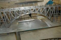 Příhradový obloukový most z Uprofilu
