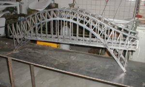 Ocelový most zahradní železnice