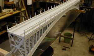 zahrdní železnice, ocekový most